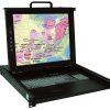 "Crystal Rugged - KSR117-8P Industrial 17"" Display w/8 port KVM"