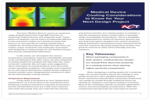 Medical Device Cooling Considerations for Your Next Design Project